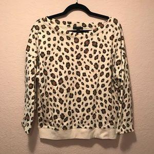 NWOT. J. Crew leopard sweatshirt.